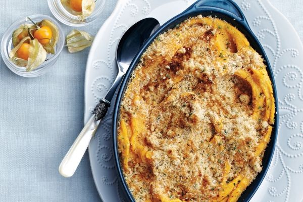Crunchy Parmesan-Topped Double Potato Mash