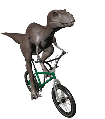 When velociraptors run they are really just riding invisible bikes.