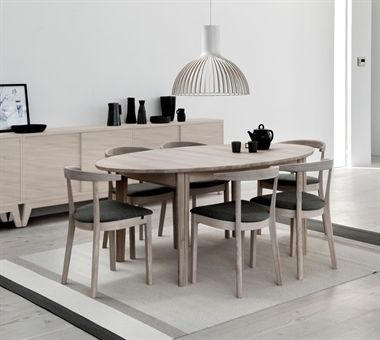 Skovby SM78 Table - Skovby dining combines simple clean lines and sharp profiles with high functionality and dazzling innovative design.  This elegant dining table can extend to seat from six to sixteen people.  SM78 is available in a range of beautiful woods and finishes including beech, oak, cherrywood, walnut and wengé to complement any interior design style.