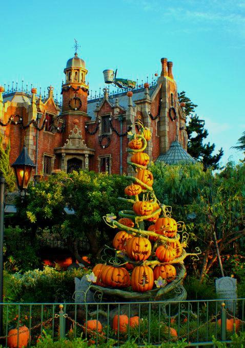 Disneyland in Tokyo celebrating Fall