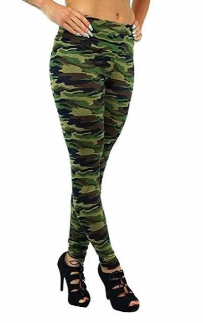 Berry Leggings Camuflaje Militar Para Mujer Ofertas Especiales Y Promociones  Caracteristicas Del Producto: Original London Optik von Berry UK Super Elas