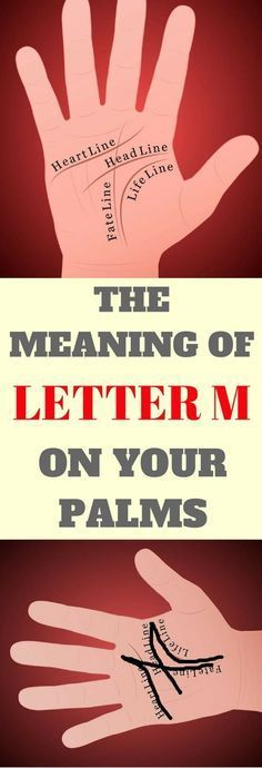 If You Have The Letter 'M' On The Palm Of Your Hand, THIS Is What It Means