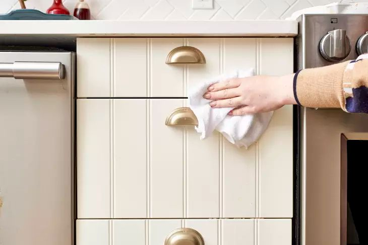 How To Get Sticky Cooking Grease Off Cupboards | Cupboard ...