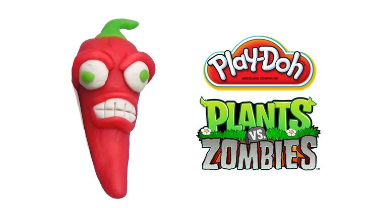 Play-Doh Plants vs Zombies Garden Warfare Jalapeno from Plants vs Zombie...