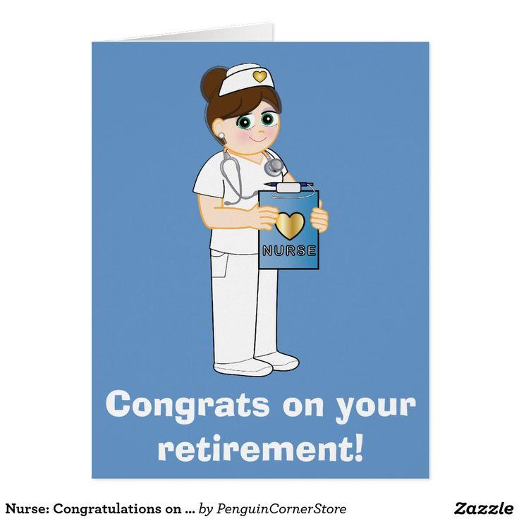 Nurse: Congratulations on Your Retirement Big Card