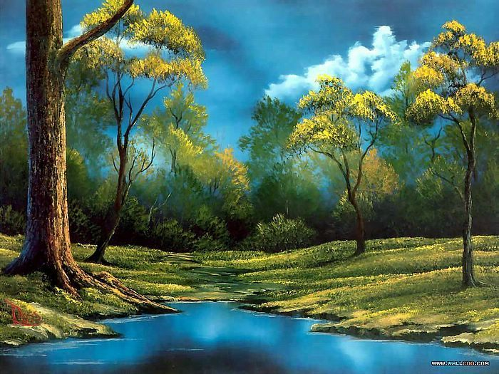 Landscapepaintings Peaceful Landscape Paintings By Bob