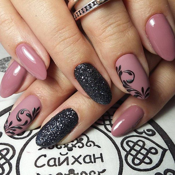 Black and pink scroll nails - 25+ Unique Elegant Nail Art Ideas On Pinterest Classy Nail