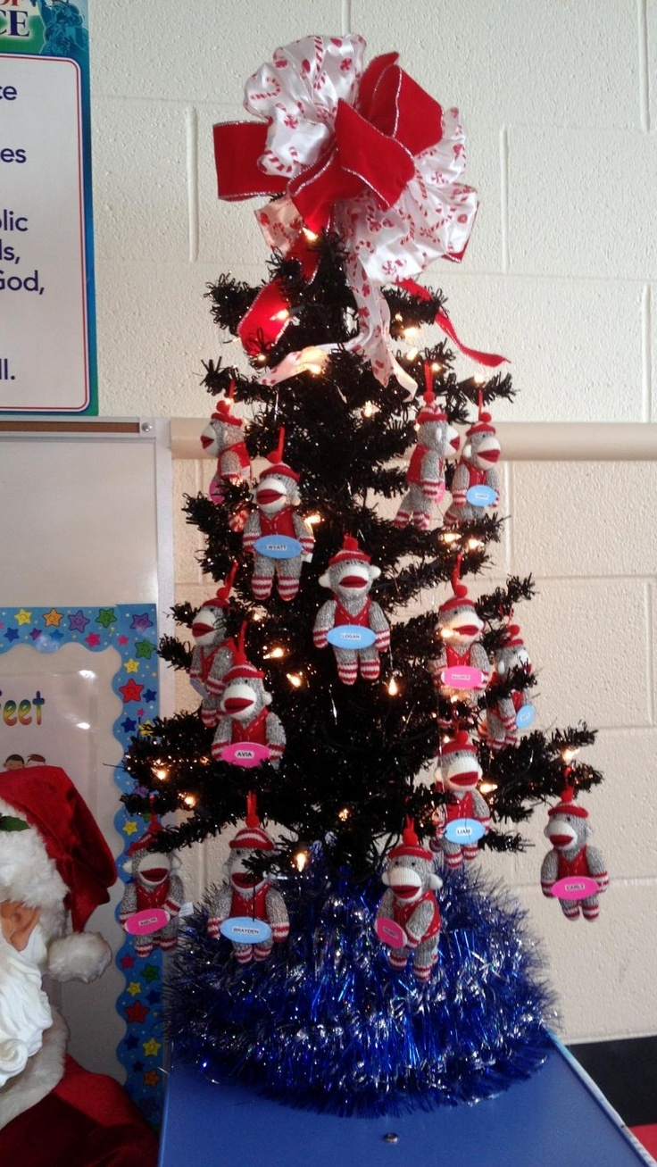 Classroom Christmas Tree Decoration ~ Best images about colorful sock monkey classroom ideas