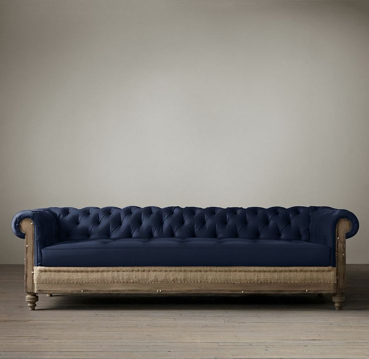 9' Deconstructed Chesterfield Upholstered Sofa   Sofas   Restoration Hardware