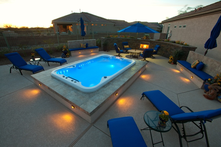 Here is a great install shot of a Maax Power Pool!