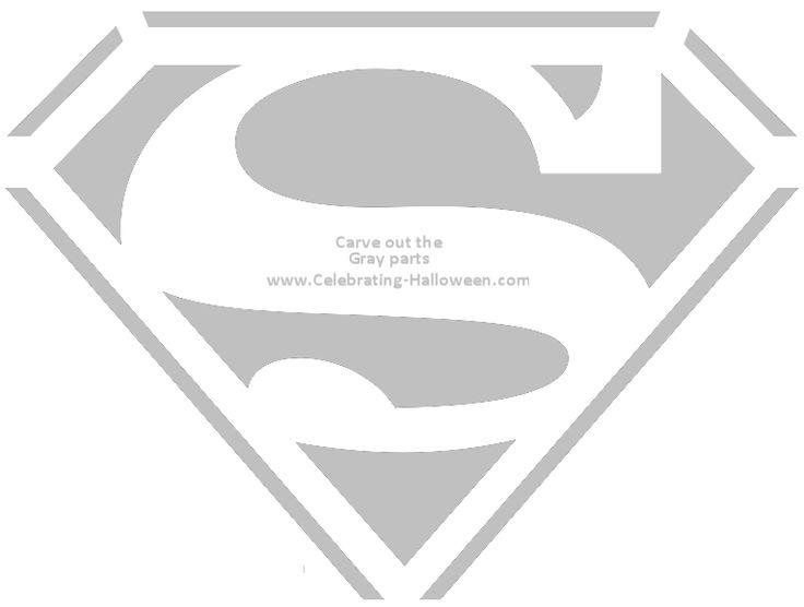 Superhero Mask Template | Superman Shield Pumpkin Carving Stencil