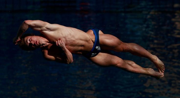 Jack Laugher of Great Britain competes in the men's diving 3m springboard…