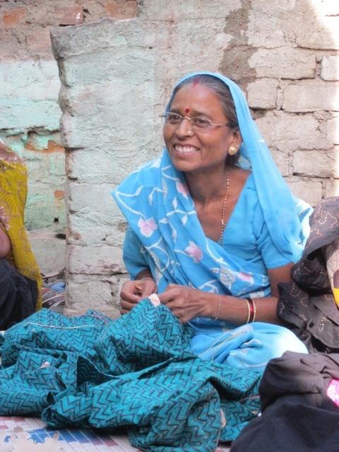 Woman laughing. Sadhna. Udaipur.