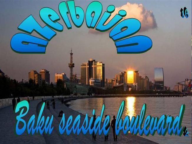 Azerbaijan16 Baku Seaside Boulevard2 Centre Parks National Parks Light Show