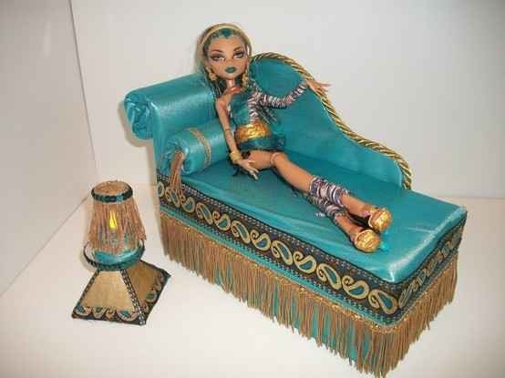 Мастер класс кровать для куклы монстер хай