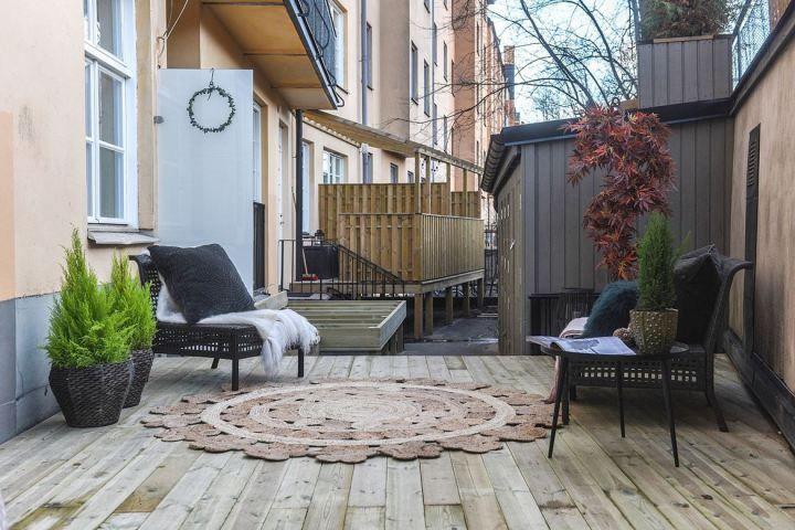 23 m² con terraza e isla en la cocina