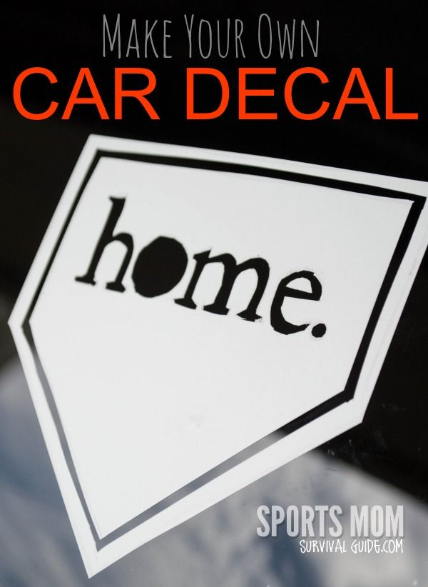 Make Your Own Car decals...SUPER EASY!!!  Great for sports teams or school special events.