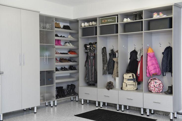 Garage storage systems work benches garage cabinets for Closet world garage