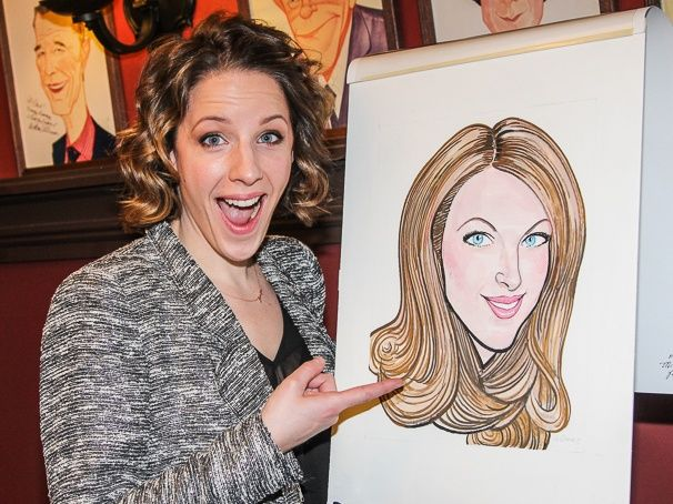 BEAUTIFUL star Jessie Mueller gets a Sardi's caricature