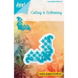 6002/0262 Cutting & Embossing stencil - Corner Lily