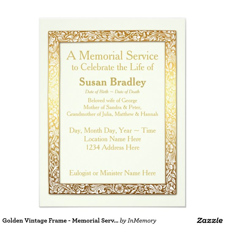 100 best Celebration of life Invitations images on Pinterest - memorial service invitation wording