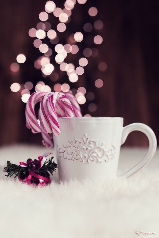 Mug with candy canes