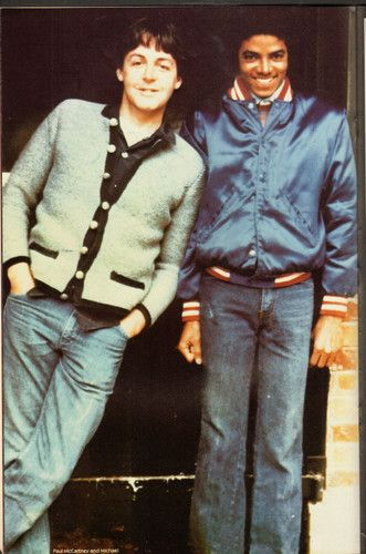 Paul McCartney and Michael Jackson (you know Paul is thinking - sell me my song catalog back Michael Pleeeze!). Michael is all - HEE HEE!