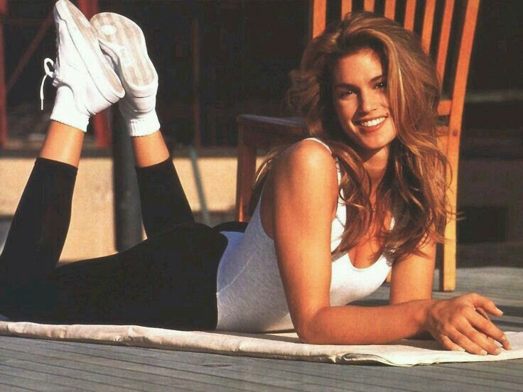 Cindy Crawford While young