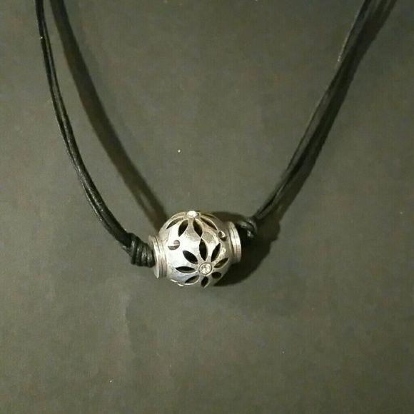 Authentic Brighton necklace Brighton necklace with black leather cord Brighton Jewelry Necklaces