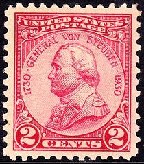Pink Stamp! General Von Steuben, 1930 Issue
