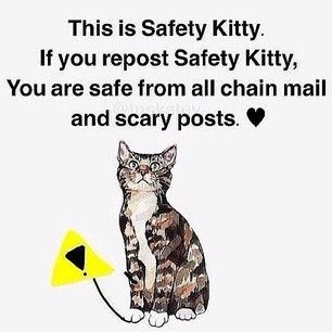 Instagram photo by gabedagamer - Repost if you don't want scary posts /:-) #safetycat | Creepy Shit | Pinterest | Safety, Kitty and Just Because
