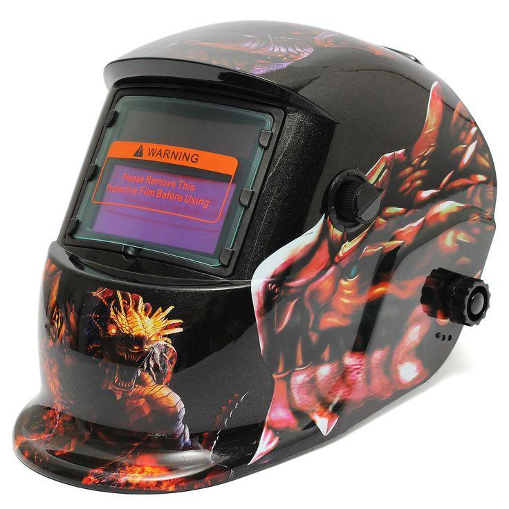 Dinosaur Solar Auto-Darkening Welding Helmet Welder Grinding Mask