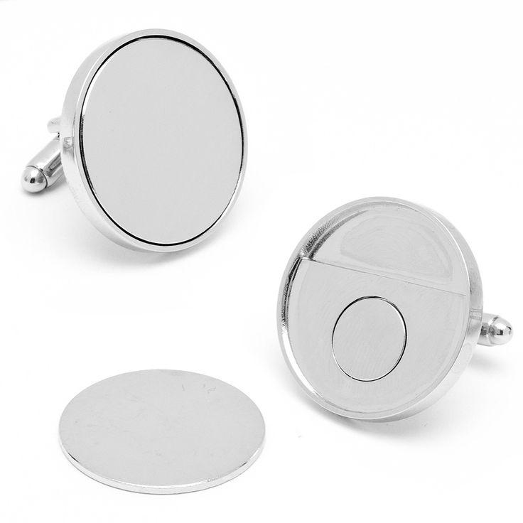 Engravable Golf Ball Marker/Receiver Cufflinks