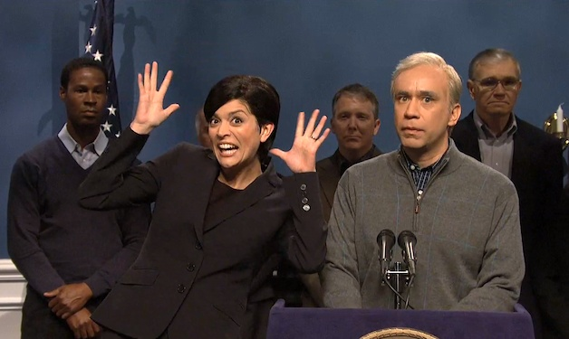 """This SNL clip highlights Mayor Bloomberg's many speeches during Hurricane Sandy, and mostly his ASL interpreter and her """"pizzazz.""""  // I knew this would be an snl parody the moment I saw a similar news clip.  #snl #sandy"""