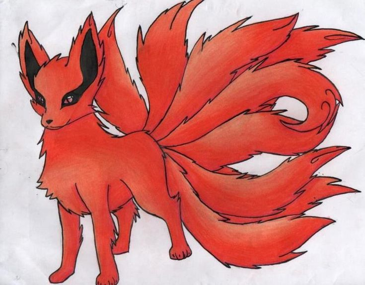 nine tailed demon fox in chibi maker - Google Search