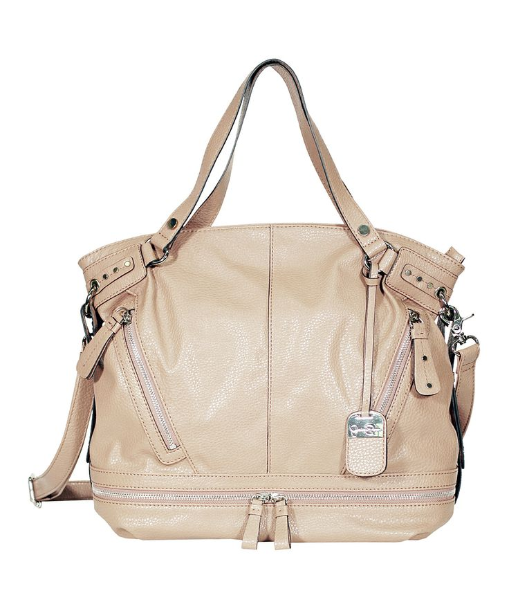 Beige & Silver Kendra Tote - Jessica Simpson Collection