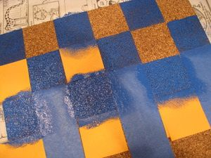 Dorm Crafts: Cool Cork Boards: Dorm Crafts: A Checkerboard Bulletin Board