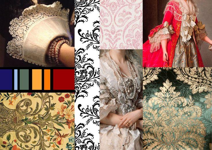 baroque moodboard fashion