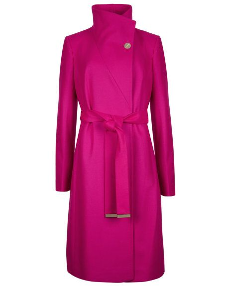 This is a beautiful coat.  5 colors available.  Belted wrap coat - Deep Pink | Jackets & Coats | Ted Baker