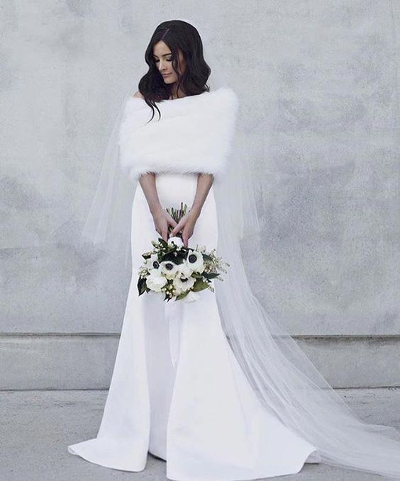 7 Bridal Cover Ups For Your Winter Wedding Winter Wedding Dress Winter Wedding Gowns Wedding Dresses