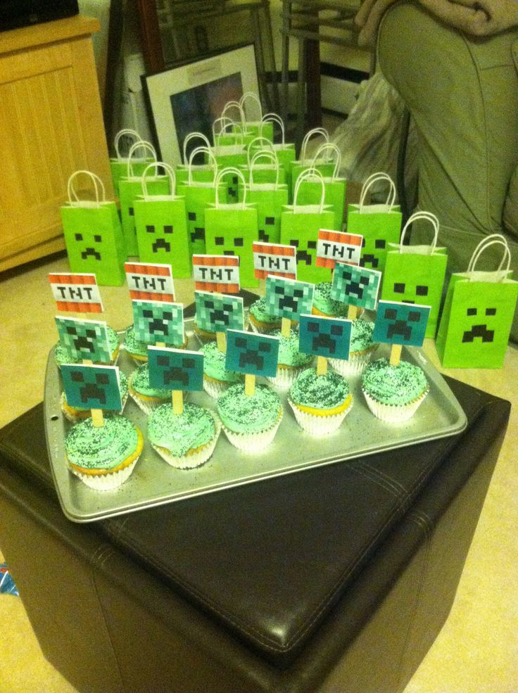 Minecraft Treat Bag Ideas Cupcakes And Goodie