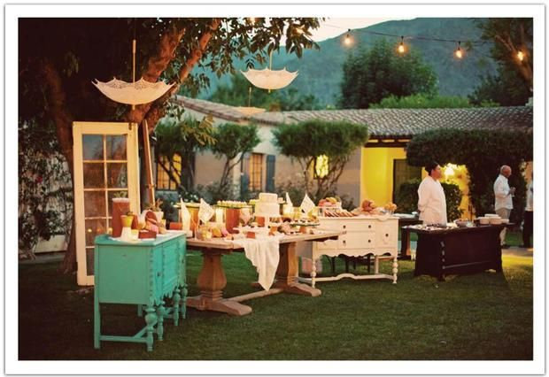 Hostess with the Mostess® - Pastel Mexican Wedding  Love the furniture and the upside down umbrellas