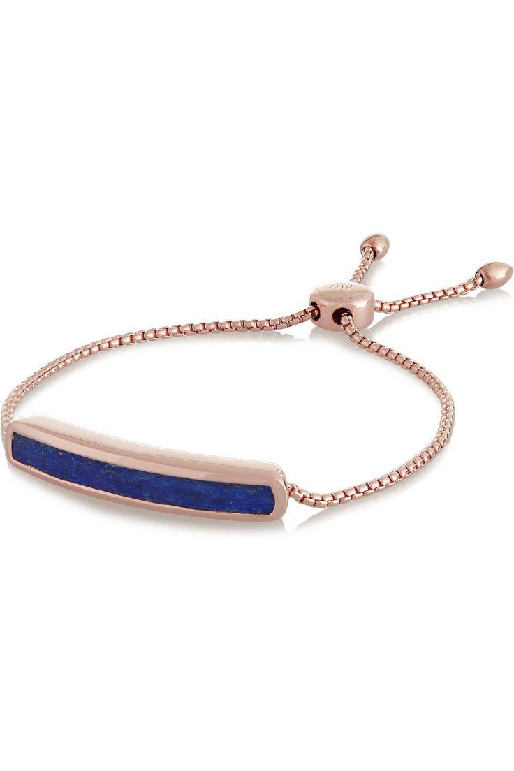 Monica Vinader Baja rose gold-plated lapis bracelet €280