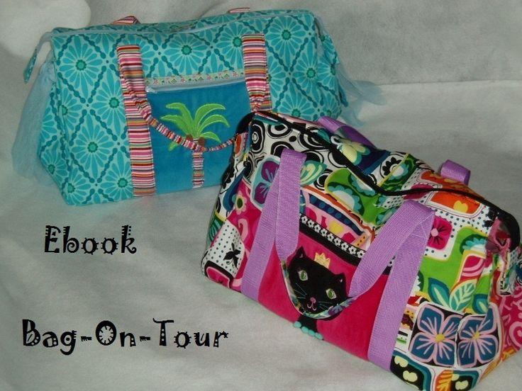 n hanleitungen taschen ebook reisetasche bag on tour anleitung ein designerst ck. Black Bedroom Furniture Sets. Home Design Ideas