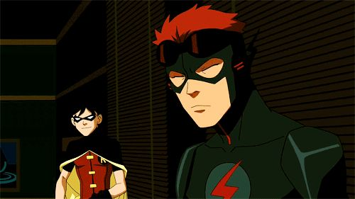 robin and kid flash young justice    63189-young-justice-robin-and-kid-flash.gif