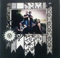 Neat Page Design: Scrapbook Ideas, Easy Scrapbooking Layouts, Scrapbook Layouts, Black And White, Wedding Scrapbook Page, Scrapbooking Ideas, Scrapbooking Wedding Layouts, Wedding Album, Wedding Scrapbooking Layouts