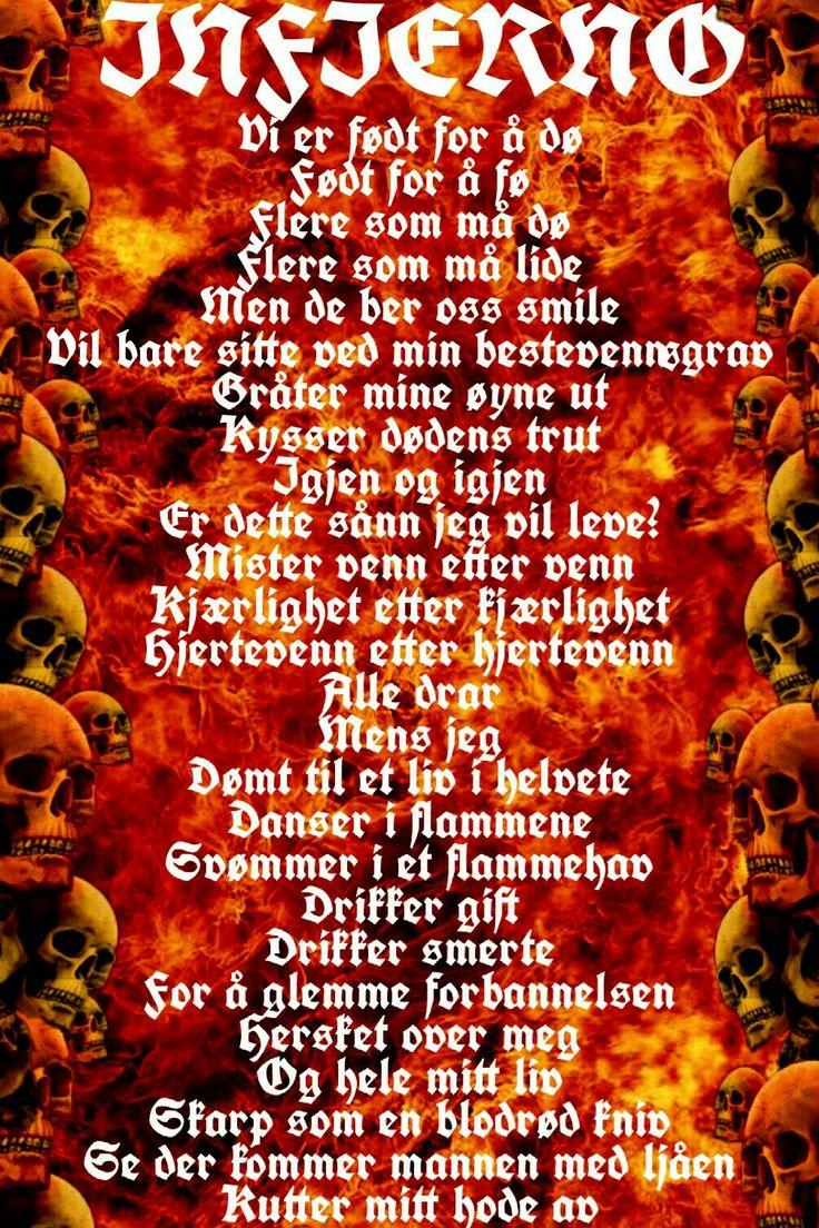 Les dikt som 'Infierno' i gratis-boka Hjertevenn Diktsamling  På Ebok, Wattpad og Tumblr  Smarturl.it/HjertevennDiktbok
