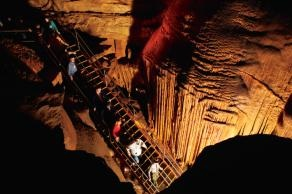 Get a real feel for The Goonies by visiting some real life caves in Cave City near Glasgow, KY. Cross over the cavern bridge at Mammoth Cave National Park!