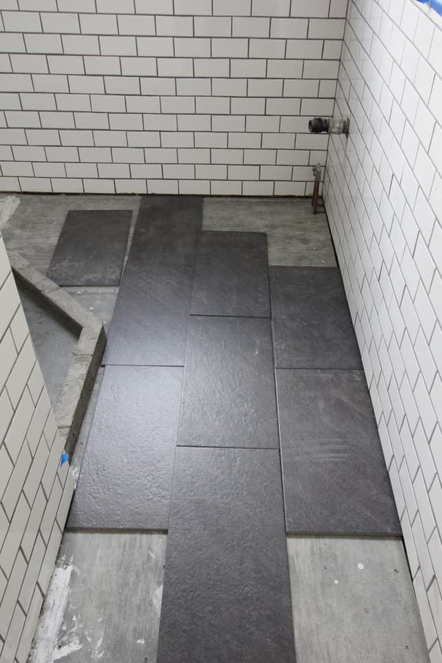 Bathroom Tiles Renovation best 20+ slate tile bathrooms ideas on pinterest | tile floor