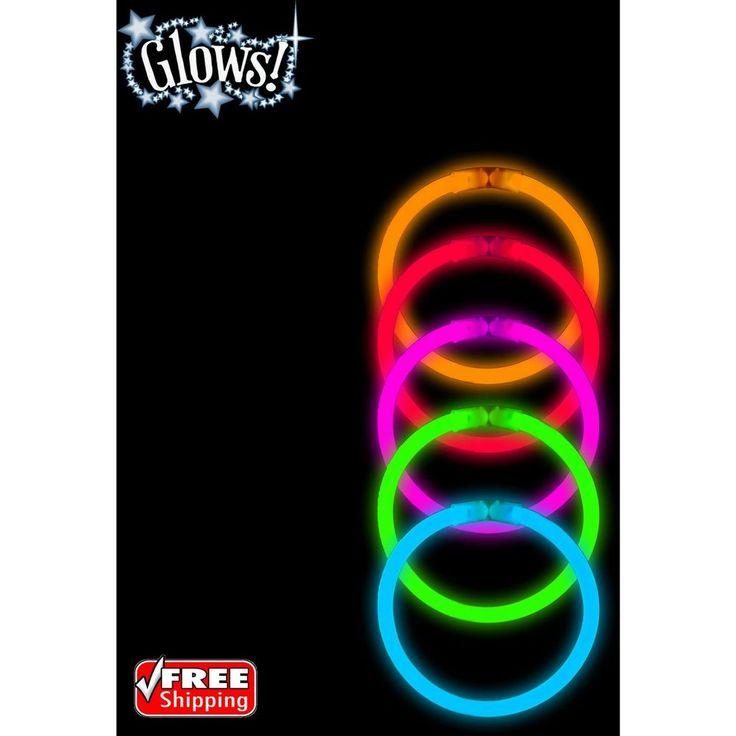 "40-Pack Halloween Glow 8"" Bracelet Accessory Party Rave Neon Light Sticks   Home & Garden, Holiday & Seasonal Décor, Halloween   eBay!"